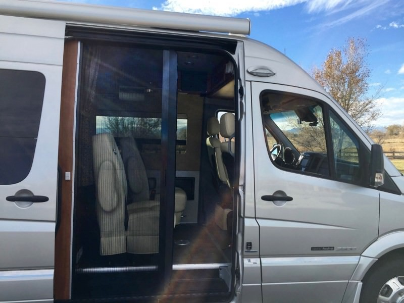 Retractable Screen Door Roadtrek Sprinter Conversion Van