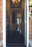 Plisse Front Door Screen - Outside