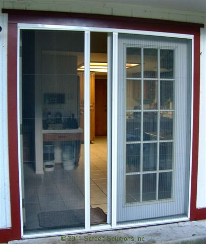 Retractable screens for french doorsretractable screens for French door sliding screen