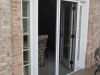 Plisse French Door - Outside - In Use