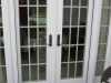 Plisse French Door - Outside - Retracted