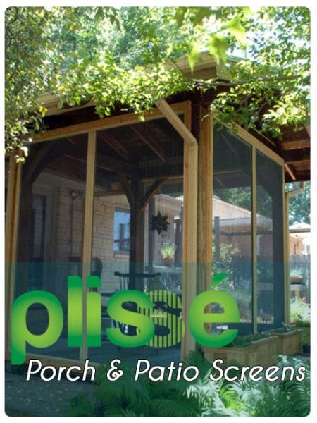 Plisse porch patio retractable screens retractable for Motorized outdoor patio screens