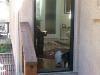 Plisse Condo Front Door Screen - Outside - In Use