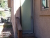 Plisse Condo Front Door Screen - Outside - Retracted