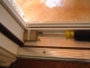 Installing a Plisse Retractable Screen Threshold Adapter step 1