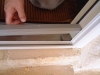 Installing a Plisse Retractable Screen Threshold Adapter step 4