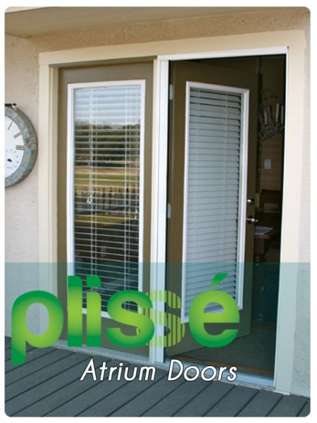 Plisse atrium door retractable screens retractable for Retractable screen solutions