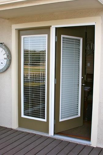 Plisse atrium door retractable screens retractable for Retractable windows and doors