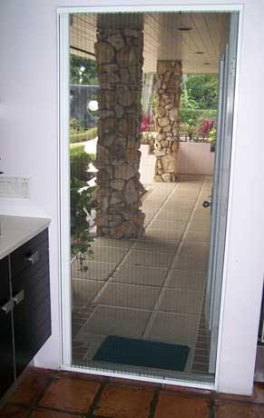 plisse single outside patio in use white - Patio Single Door