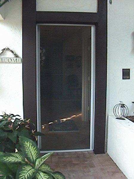 Plisse Single Door Retractable Screens - Retractable