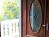 Plisse Retractable Door Screen - Bronze Single