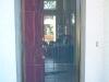Plisse Retractable Door Screen - Single Bronze