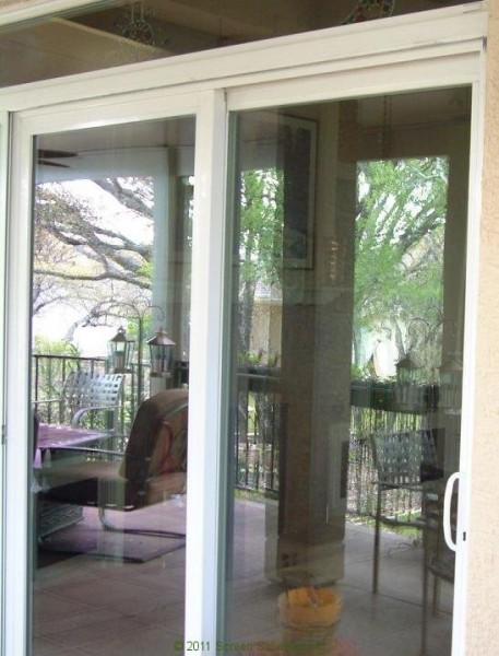 Plisse sliding glass retractable door screens for Retractable patio doors