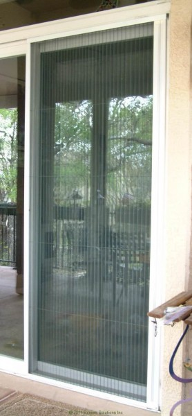 Plisse sliding glass retractable door screens for Phantom door screens prices
