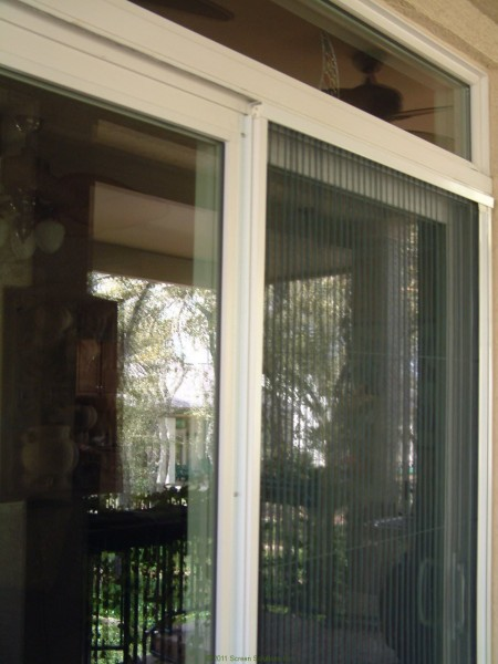 Plisse sliding glass retractable door screens for Windows with retractable screens