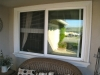 Plisse Window - Outside - White - In Use - porch 3