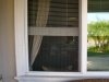 Plisse Window - Outside - White - In Use - porch