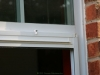 Plisse Window - Outside - White - Retracted - top close up 2
