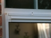 Plisse Window - Outside - White - Retracted - top close up