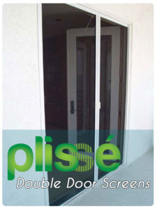 Plisse Retractable Screens for Double Doors Gallery
