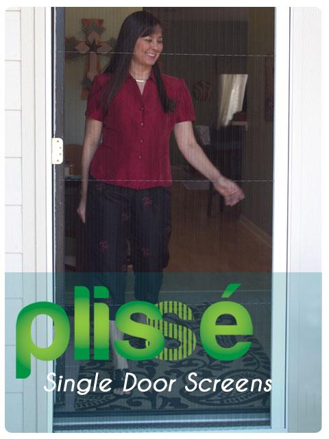 Plisse Single Retractable Door Screen Gallery