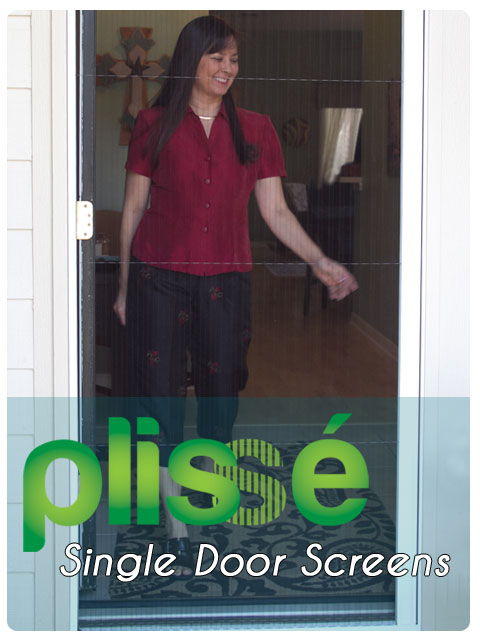 Plisse Single Retractable Door Screen Gallery