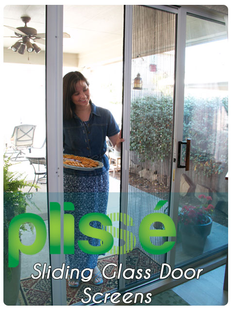 Plisse Retractable Screens for Sliding Glass Doors Gallery
