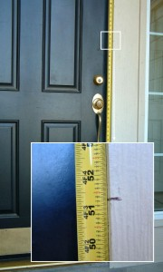 Measure Right Height from Mark to Bottom
