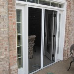 Double Plisse Retractable Screen in Use on Atrium Doorway
