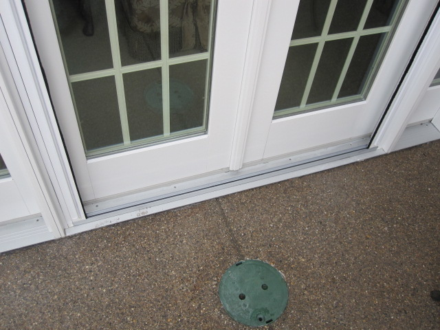 Threshold on Double Plisse Retractable Screen Retracted Back on Atrium Doorway