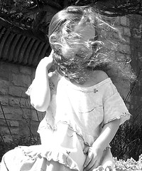 Little Girl with Wind in Hair