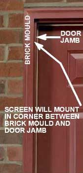 Annotated Image of How to Measure an Opening with Brick Mold