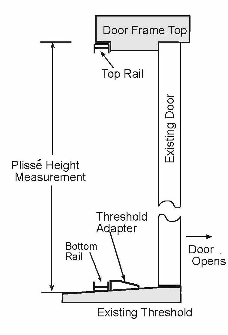 Drawing showing typical installation with threshold adapter.