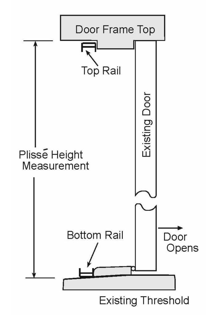 Drawing of a typical installation without threshold adapter.