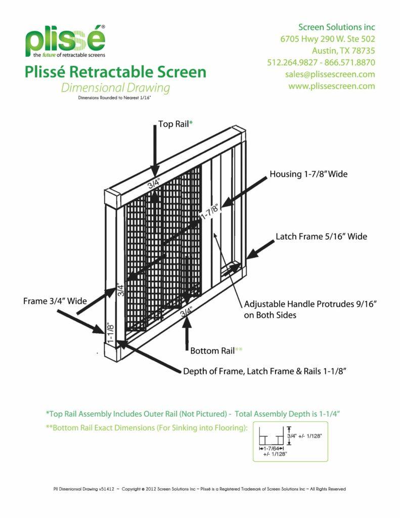 Plisse II Dimensional Drawing v5142012