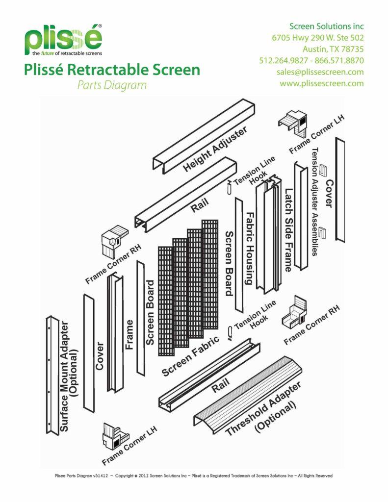Plisse Parts Diagram v5142012