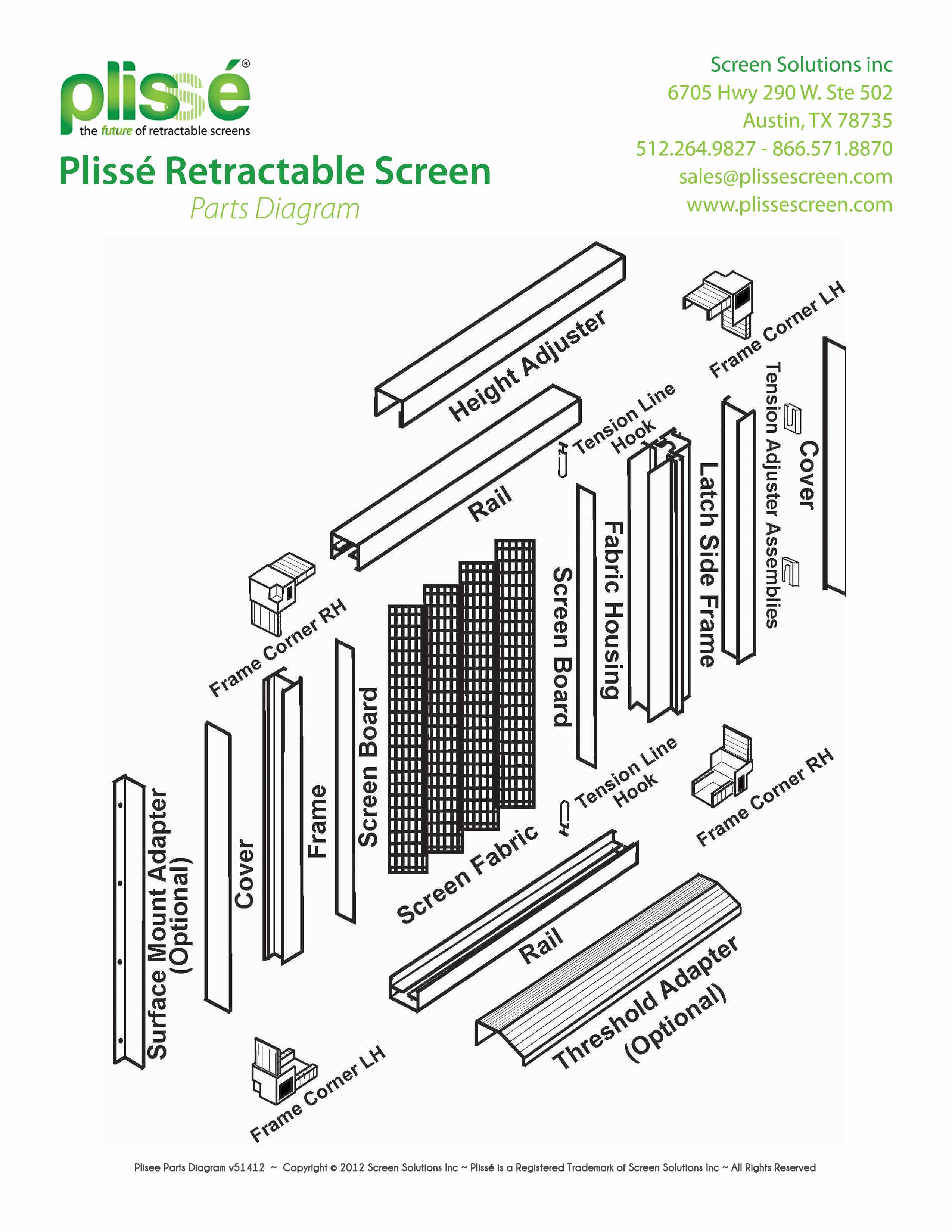 Screen Door Parts : Plisse product specifications retractable screens for