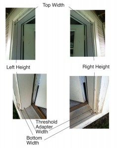 How to Take Pictures to Measure for a Plisse Retractable Door Screen