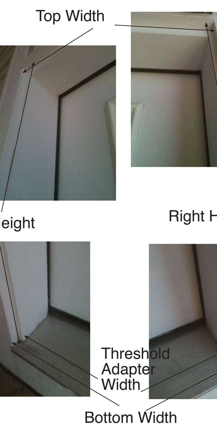 How to Take Pictures to Measure for a Plisse Retractable Door Screen 2