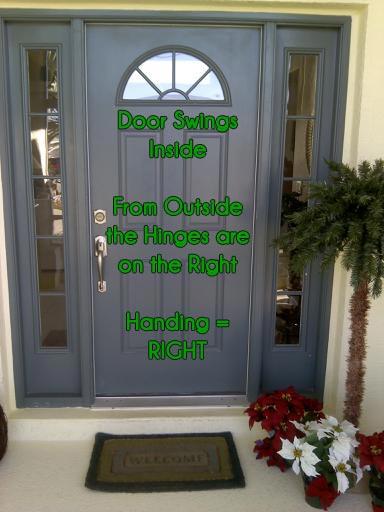 In-Swing Door: Right Handed Plisse Retractable Door Screen