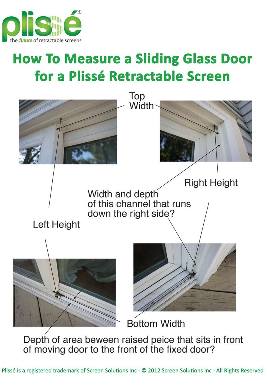 How to Measure a Sliding Glass Door for a Plisse Retractable Door Screen