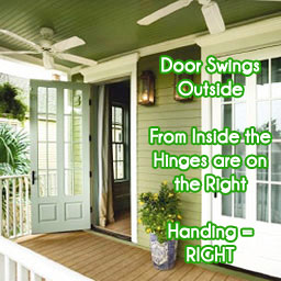 Out-Swing Door: Right Handed Plisse Retractable Door Screen
