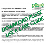 Plisse Retractable Screen Caring-Thumbnail