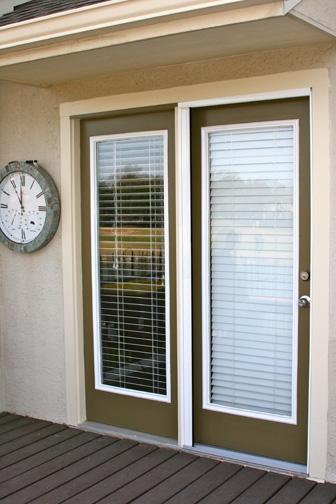 Plisse Retractable Screen - Retracted Door Closed on Atrium Door