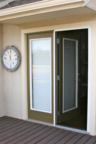 Plisse Retractable Screen in Use on Atrium Door