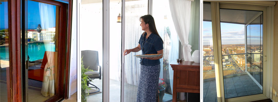 The Vanishing Sliding Glass Door Screen.