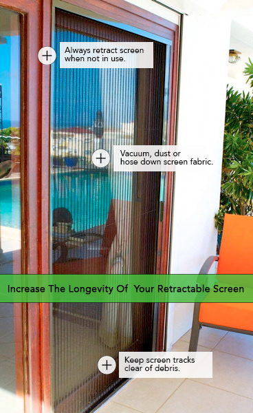 Tips for improving the longevity of your retractable screen.