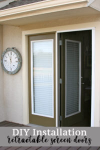 DIY installation on retractable screen doors