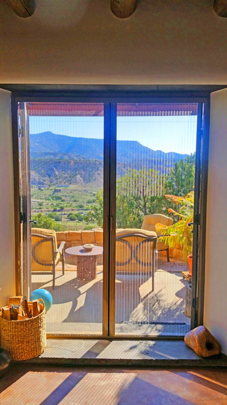 Doug Coffin Double Door Plisse Retractable Door Screen