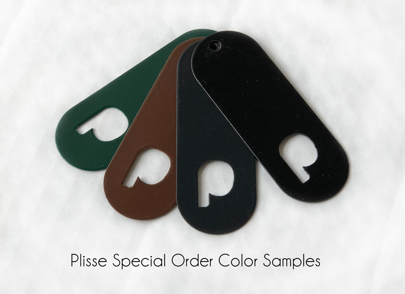 Plisse Retractable Screen Door Special Order Color Samples